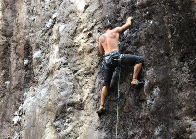 Morning climbing session at La Meca